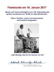 Albert-Schweitzer-Feststunde