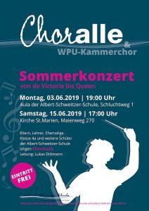3. + 15.6. Chorkonzert von ChorALLE + WPU-Kammerchor + Band + 4a