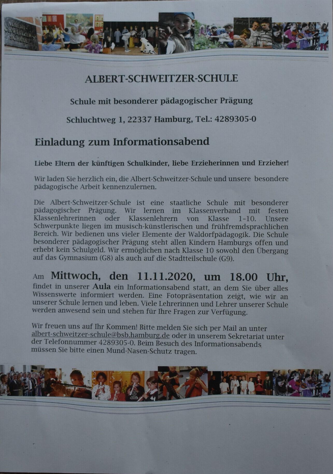 11.11.2020 Informationsabend (Schule mit bes. päd. Prägung)